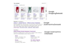 Verschil in Google Advertising